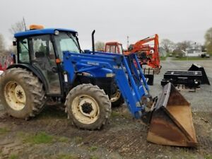 2003 New Holland TN75D 4WD Cab Tractor