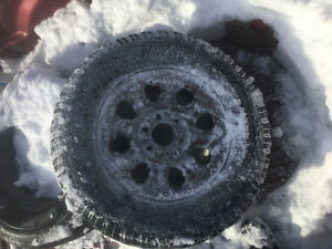 """17"""" Spare Tire with rim 6 bolt chev & gmc pattern"""