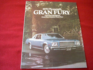 1975 Plymouth Fury sales brochure MOPAR