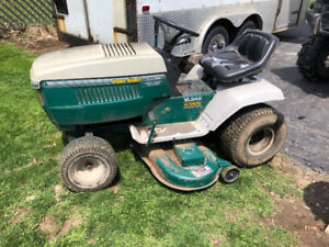 18.5 hp twin riding lawn tractor