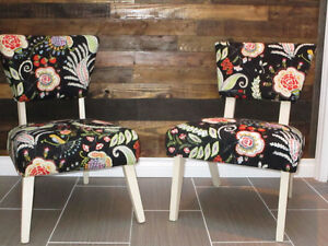 Pair of refinished vintage accent chairs