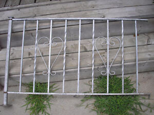 Two Vintage Wrought Iron Railings Silver in colour. Heart design Kitchener / Waterloo Kitchener Area image 2
