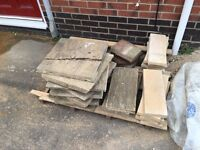 Free to collect north walsham job lot of slabs rubble and all in