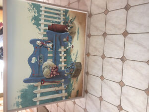 Vintage Huntington Painting on Canvas Framed