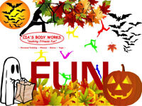 Halloween FUN, YOGA Class SPECIAL! Excellent rates.
