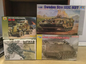 Lot of 4 Military/Armour Plastic Models #12