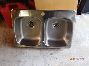 Lavabo double staintess
