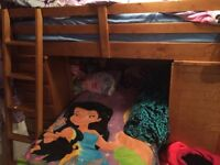 Kids bunk bed desk and drawers attached!!