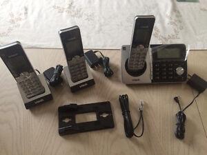 VTech CS5158-3 3-handset Cordless Phone Kitchener / Waterloo Kitchener Area image 1