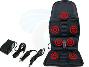 HL-889B Chair Massager with Heat Pad Power Car Adapter
