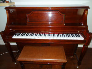 HEINTZMAN upright 48' professional piano w/cushion bench