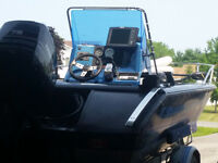 1996 Spectrum 1703 center console with 75 Mercury outboard