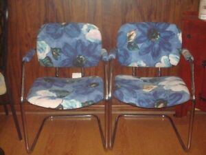 vintage pair of  cantilever chairs