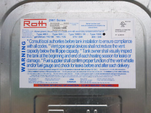 Roth 1500 litre double wall Fuel Oil Tank