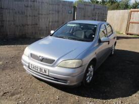 2002 Vauxhall Astra G 1.4i 16v LS Petrol Manual 5 Door Hatchback Grey Long MOT