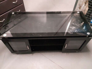 Floating Glass TV Stand