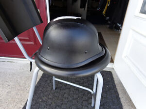 Black leather clad helmet in xx-large    recycledgear.ca Kawartha Lakes Peterborough Area image 8