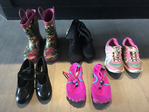 Size 13 - youth girl - shoes boots runners sandals rain boots