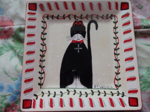 Christmas Cat Dishes
