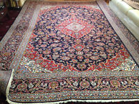 Persian handmade area rug + identical runner in mint condition