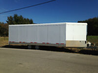 Trails West- 28' heated snowmobile trailer