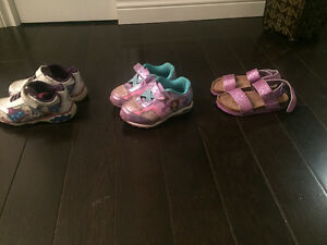 Girls sneakers -size 9 ; sandles size 8-$5 each