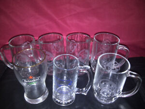 Grands verres de bieres de collection neufs (450 ml, 500 ml)