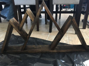 Reclaimed wood mountain shelf
