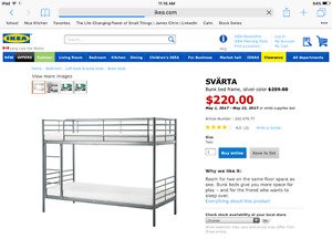 Like New IKEA Bunk Bed (including two mattresses)