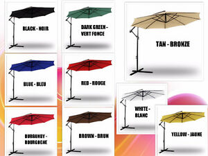 Patio Offset Cantiliver Umbrellas  - Parasol  ALL COLORS