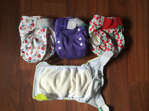 4 Tot Bot all in one one size cloth diapers