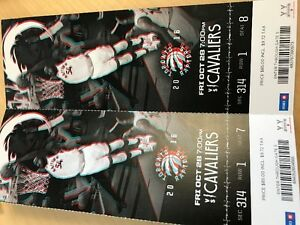 Raptors/Cavaliers tickets for Friday