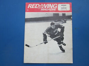Collectible Red Wings Hockey Program 1968