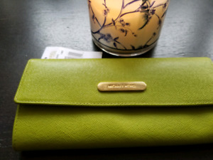 Authentic Lime Green Safiano Michael Kors Wallet with Tags