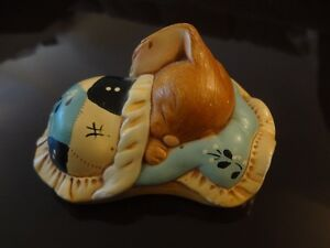 Porcelain figurine - sleeping rabbit