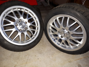 Alloys wheels and Bridgestone tires