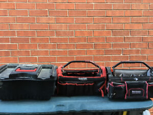 Tool bags and storage drawer.