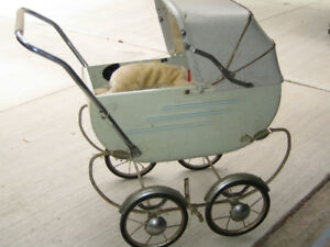 antique baby buggy