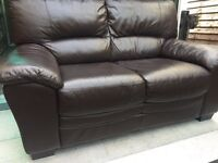 2 & 2 Reids beautiful full leather sofa set - can deliver