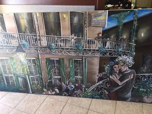Mardi Gras Painting, 4x8 feet