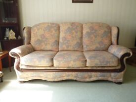 Three seater settee plus one chair