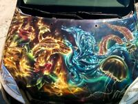 Airbrush / projet carrosserie / auto / moto / casque