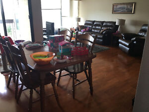 Furnished 2 bed large apartment with heat and hydro included