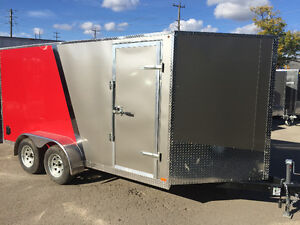 7' x 14' V-NOSE CARGO TRAILER • 3 Year Warranty • Canadian Made