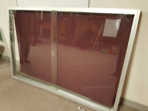 Frame Enclosed Fabric Board Sliding Door - Need gone ASAP !!