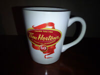 "TIM HORTONS ""40 Years of Friendship"" Limited Edition 2004 Mug"
