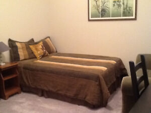 ASAP--LARGE FURNISHED ROOM & BATH IN UPSCALE EVERGREEN TOWNHOUSE