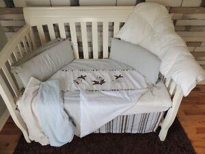 Anaya - Literie bassinette bébé garçon peint à la main de qualit
