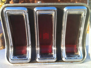 Vintage 1967 Ford Mustang lights and trim