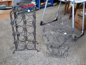 LOT OF 2 GORGEOUS METAL WINE RACK ON CHOICE $18.00 EACH